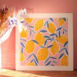 Gwendoline Lefeuvre ⎮ Graphisme & Design textile⎮ illustratrice à Nantes ⎮ Affiche Citrons