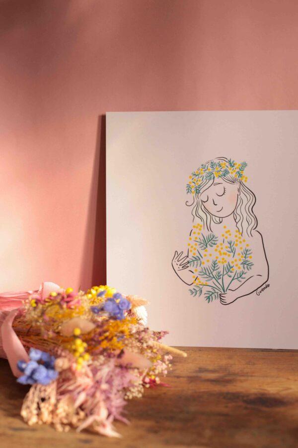 Gwendoline Lefeuvre ⎮ Graphisme & Design textile⎮ illustratrice à Nantes ⎮ Affiche Mimosa