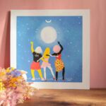 Gwendoline Lefeuvre ⎮ Graphisme & Design textile⎮ illustratrice à Nantes ⎮ Affiche Moon