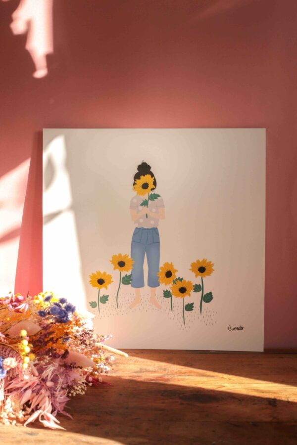 Gwendoline Lefeuvre ⎮ Graphisme & Design textile⎮ illustratrice à Nantes ⎮ Affiche Tournesols