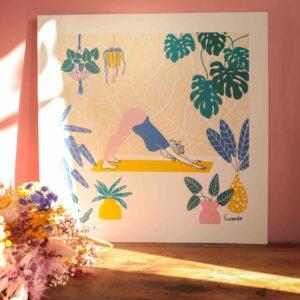 Gwendoline Lefeuvre ⎮ Graphisme & Design textile⎮ illustratrice à Nantes ⎮ Affiche Yoga