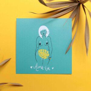 Gwendoline Lefeuvre Illustration & design textile à Nantes ⎮ carte Aime-toi