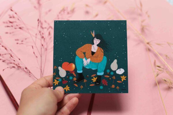Gwendoline Lefeuvre Illustration & design textile à Nantes ⎮ carte automne