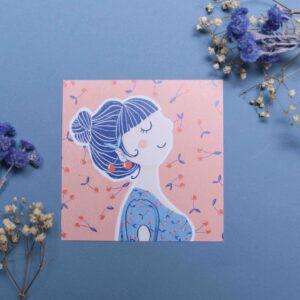Gwendoline Lefeuvre Illustration & design textile à Nantes ⎮ carte cerise