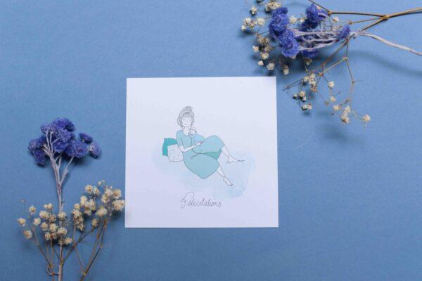 Gwendoline Lefeuvre Illustration & design textile à Nantes ⎮ carte naissance garçon