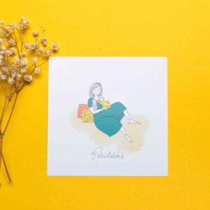 Gwendoline Lefeuvre Illustration & design textile à Nantes ⎮ carte naissance jumeau