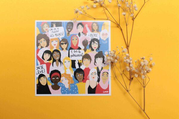 Gwendoline Lefeuvre Illustration & design textile à Nantes ⎮ carte Féminisme