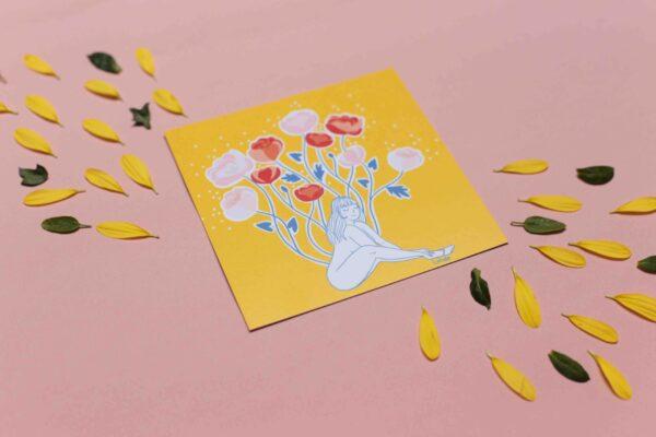 Gwendoline Lefeuvre Illustration & design textile à Nantes ⎮ carte Fleurir
