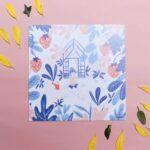 Gwendoline Lefeuvre Illustration & design textile à Nantes ⎮ carte Fraises