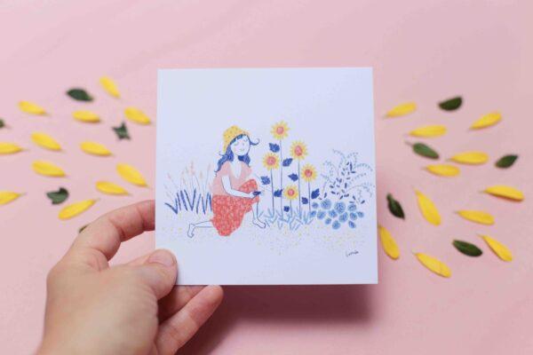 Gwendoline Lefeuvre Illustration & design textile à Nantes ⎮ carte Jardin