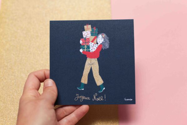 Gwendoline Lefeuvre Illustration & design textile à Nantes ⎮ carte Joyeux Noël