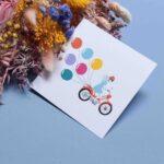 Gwendoline Lefeuvre Illustration & design textile à Nantes ⎮ carte Mobylette