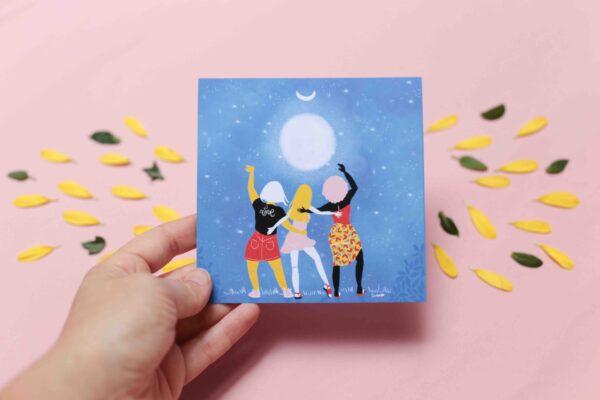 Gwendoline Lefeuvre Illustration & design textile à Nantes ⎮ carte Moon