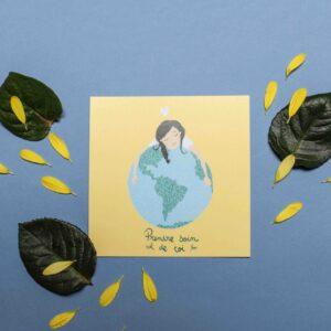 Gwendoline Lefeuvre Illustration & design textile à Nantes ⎮ carte prendre soin de toi