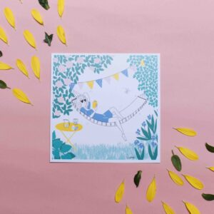 Gwendoline Lefeuvre Illustration & design textile à Nantes ⎮ carte relax