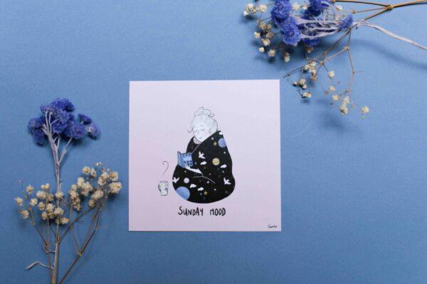 Gwendoline Lefeuvre Illustration & design textile à Nantes ⎮ carte Sunday-Mood