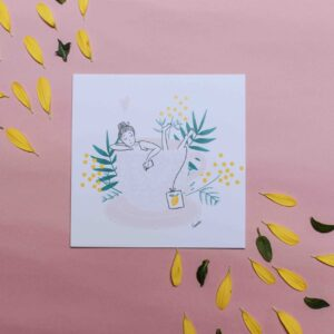 Gwendoline Lefeuvre Illustration & design textile à Nantes ⎮ carte Tea-time