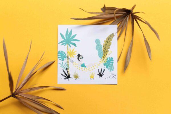 Gwendoline Lefeuvre Illustration & design textile à Nantes ⎮ carte vacances