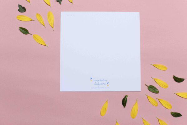 Gwendoline Lefeuvre Illustration & design textile à Nantes ⎮ carte en papier recyclé Verso