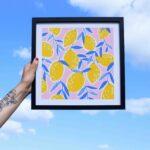 Gwendoline Lefeuvre Illustration & design textile à Nantes ⎮ affiche Citrons