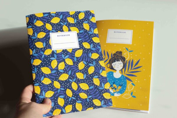 Gwendoline Lefeuvre Ilustration & design textile à Nantes ⎮ Carnet de notes Citrons