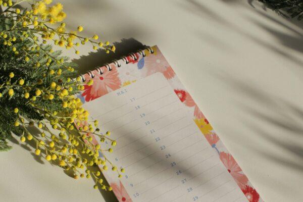 Gwendoline Lefeuvre Ilustration & design textile à Nantes ⎮ Calendrier anniversaires Floral Birds