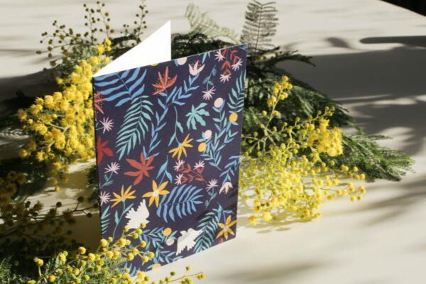 Gwendoline Lefeuvre Illustration & design textile à Nantes ⎮ carte Floral Birds