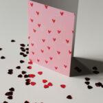 Gwendoline Lefeuvre Ilustration & design textile à Nantes ⎮ Carte double Coeurs