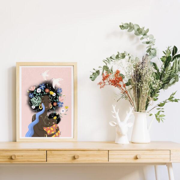 Gwendoline Lefeuvre ⎮ Graphisme & Design textile⎮ illustratrice à Nantes ⎮ Affiche Mother Nature